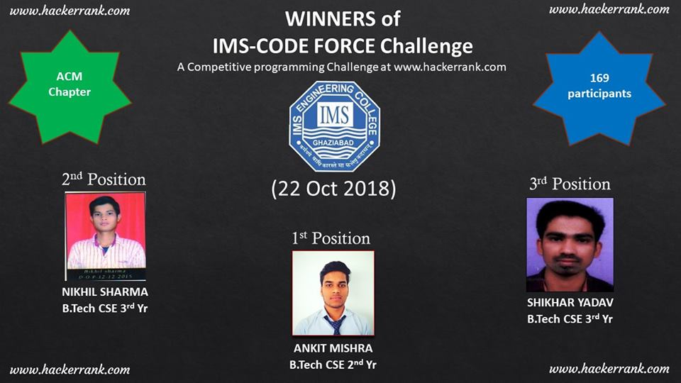 Online competitive programming challenge on 22/10/2018