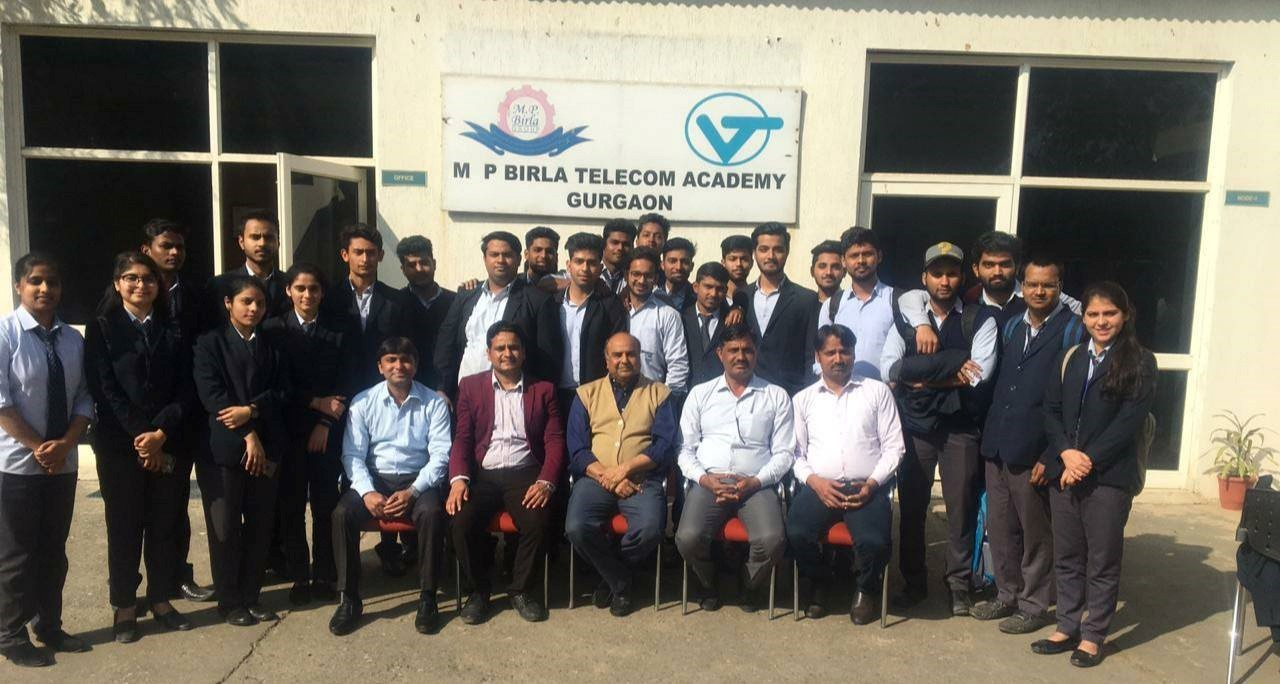 * Industrial visit of ECE 2nd year students to M P Birla Telecom Academy Gurgaon on 22.02.2019 with Prof. Praveen Chaurasia.