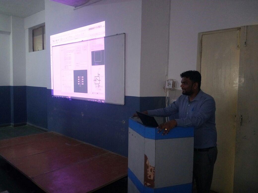 One day workshop on PCB designing using Design Spark tool