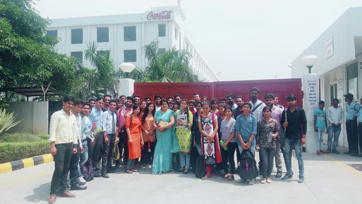 MBA first year students visited Moon Beverages Ltd (bottling plant of Coca Cola) on April 15, 2017