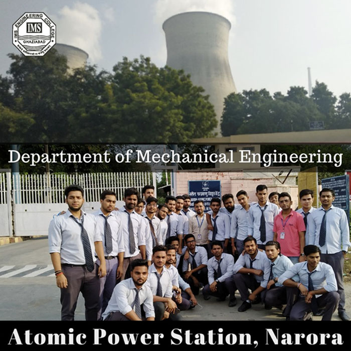 The students of Mechanical Final year visited Atomic Power Station Narora on 22nd October 2019.
