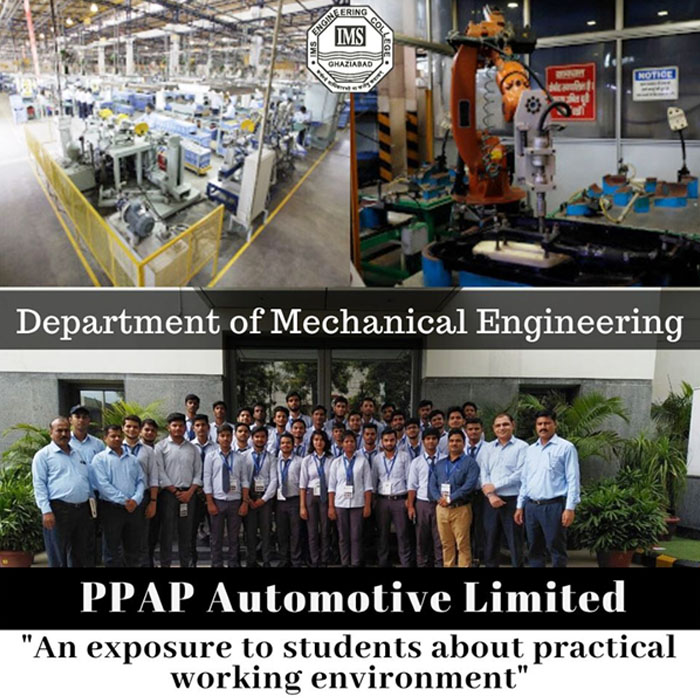 Department of Mechanical Engineering organised an Industrial Visit for Mechanical second year students to PPAP Automotive Limited, Noida.