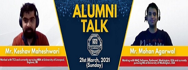 Alumni Talk on Higher Studies & Career Goals