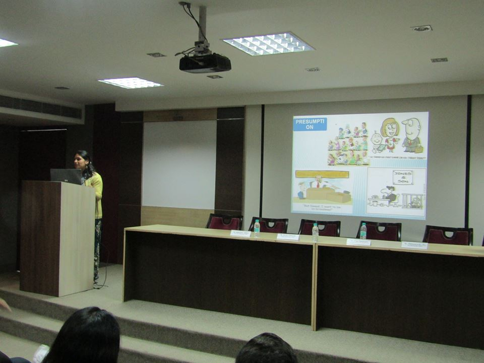 Guest lecture by Dr. Tripti Bhatnagar