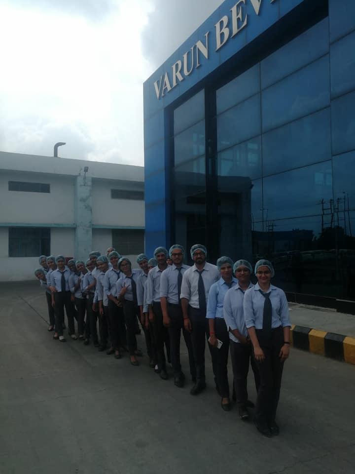 Industrial Visit at Varun beverages