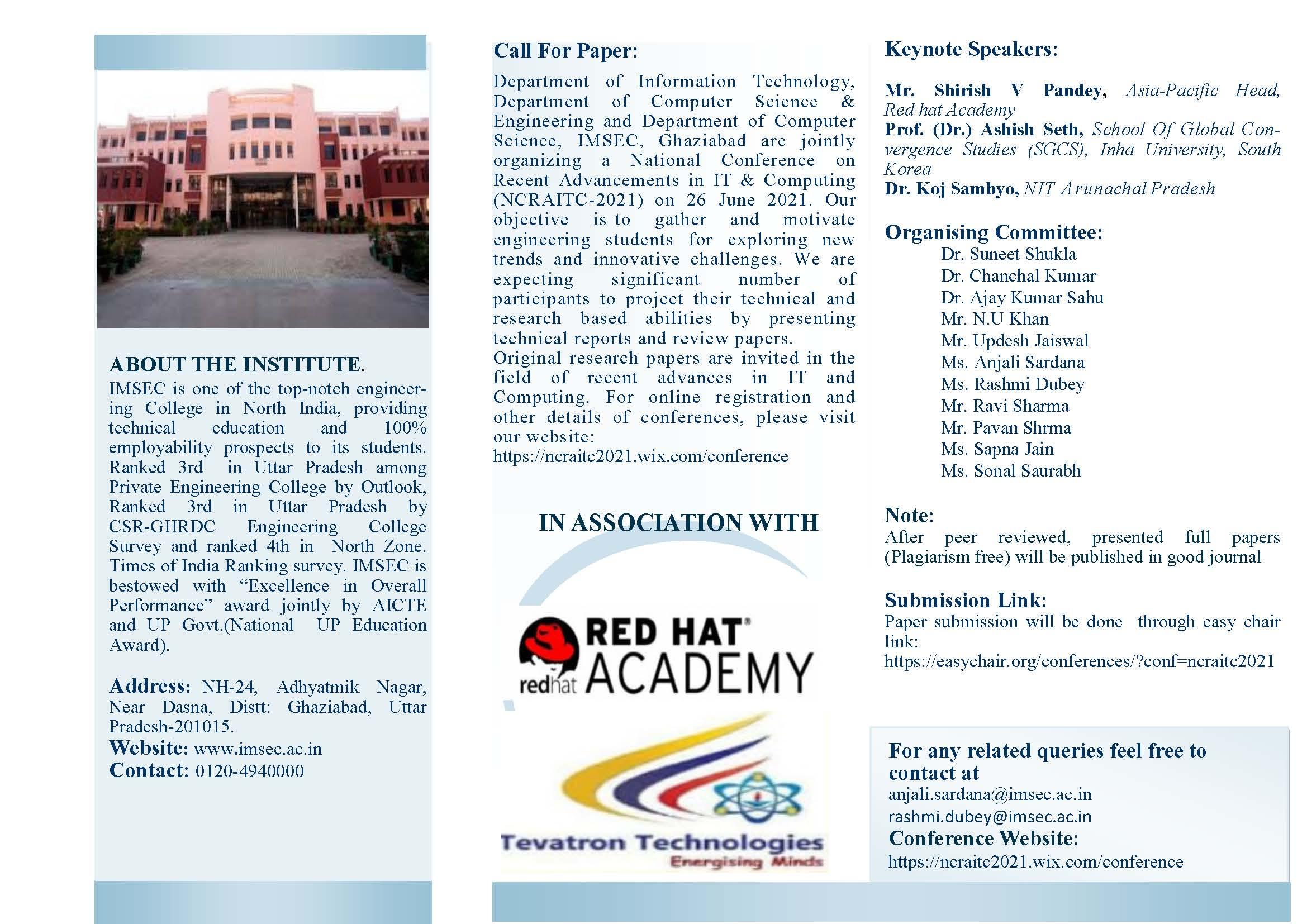 National-Conference-NCRAITC-2021-Brochure