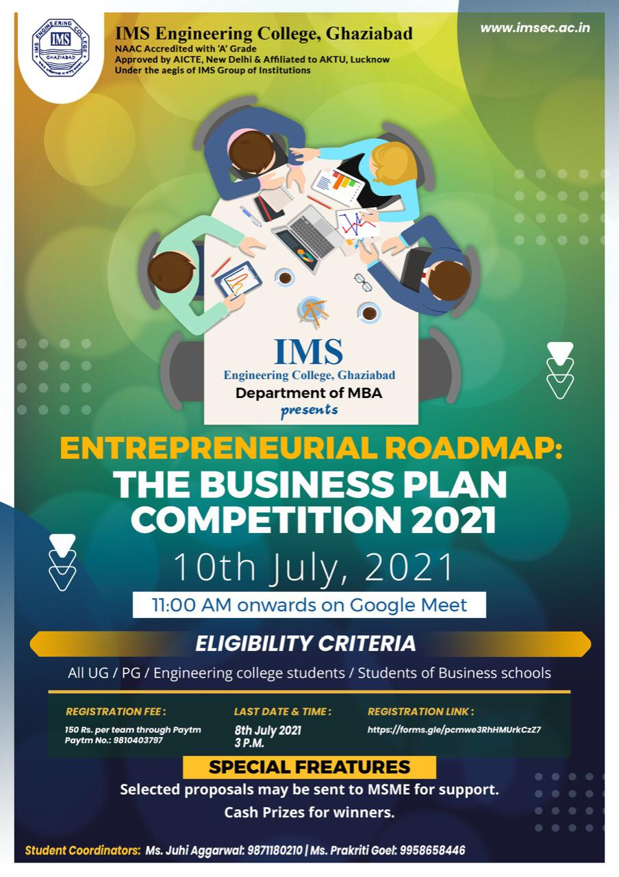 Entrepreneurial Roadmap:  The Business Plan Competition 2021